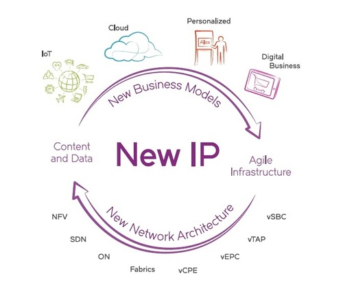 The New IP world encompasses everything from business models, to content and data, to agile infrastructure. (Source: Brocade)