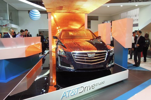 On the MWC show floor, AT&T and a host of other companies were extolling the virtue of the connected car.