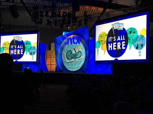 A Chicago-themed multimedia extravaganza set the stage for the opening session on Tuesday morning at McCormick Place convention center.