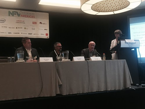 Led by Caroline Chappell, Heavy Reading (far left), panelists discussed NFV security at the NFV Everywhere conference.