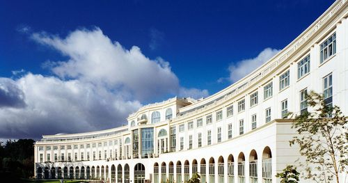 2020 Vision Executive Summit's home for the week -- The Powerscourt Hotel Resort and Spa. It's about a 45-minute drive from Dublin in County Wicklow.