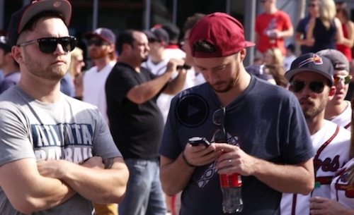 Fans stay connected via Comcast's ultra-broadband network throughout the Atlanta Braves' complex and SunTrust Stadium. (Source: Comcast)