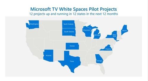 Microsoft plans to deploy broadband projects in 12 states with 12 partners in 12 months. (Source: Microsoft)