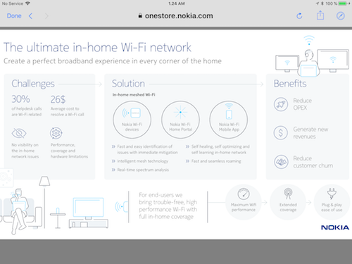 Like many vendors in the access space, Nokia sees whole-home WiFi as the backbone of smart home success. (Source: Nokia)