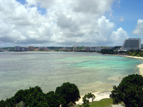 The coastline of Guam, one point of an upcoming subsea cable system.