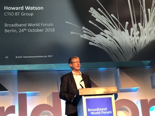 Since most service providers agree that enhanced customer experience is their top priority, it makes sense for operators to pool best practices, test results and other information that enhance the overall industry and reduce all operators' costs, BT CTIO Howard Watson told a packed house at Broadband World Forum today. (Photo: Niall Hunt)