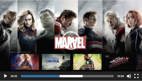 A screengrab of the Disney+ service preview.