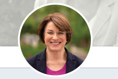 Senator Amy Klobuchar (D-MN), running for president in 2020, has co-sponsored a bill to measure broadband's economic impact. (Source: Twitter)