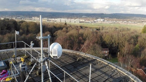 What a dish!! Virgin Media is looking at microwave backhaul as a way to extend its transmission network to remote areas in the UK.