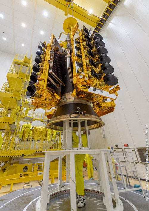 Satellite from SES subsidiary O3B gets ready for an April 2019 launch.