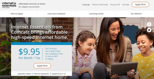 Comcast says it has expanded the eligibility of Internet Essentials 11 times and increased the offering's speeds  four times since the program debuted in 2011.