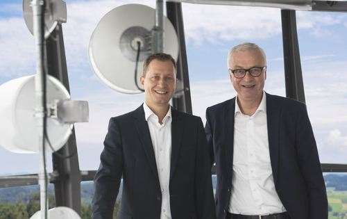 Dominik Muller (left), currently Swisscom Broadcast head of Network, IT & Operations, will become CEO in November, taking over from current CEO Jean-Paul de Weck, who will retire next year.