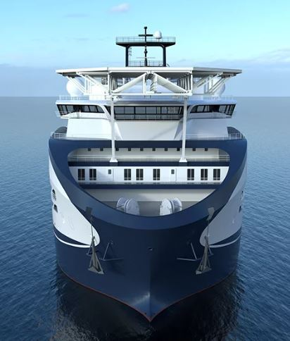An artist's rendering of Prysmian Group's Leonardo da Vinci, an almost $188-million cable-laying vessel currently under construction.