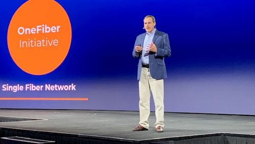 Verizon's Kevin Smith updates the Calix ConneXions 2019 crowd on the provider's OneFiber initiative, which centralized purchases and management and allows Verizon to leverage business decisions based on (and leveraging) its massive fiber footprint.