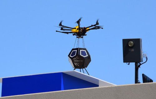 Bell Labs recently demonstrated drone-based delivery of an F-Cell to a Nokia office rooftop. The F-Cell wirelessly self-powered, self-configured and auto-connected to the network and instantly began to stream high-definition video.
