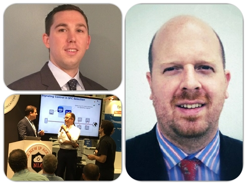 NIA Director Jeff Hannah (top left); Nico Fischbach, Director of Strategy, Architecture and Innovation at Colt Technology Services (right); and 