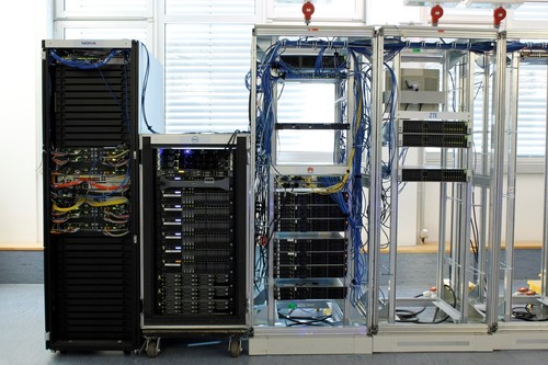 A test bed at EANTC's lab in Berlin.