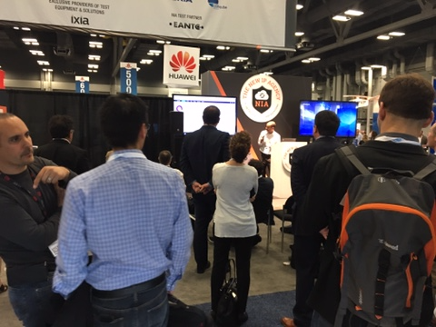 Attendees flooded the NIA-EANTC Live Interoperability Demo at BCE in Austin, Texas, earlier this year.